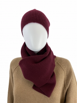 Schafwolle / Kaschmir Unisex Set Schal und Mütze