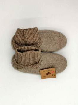 100% Sheep Wool Felt Unisex Slippers with Gaiter